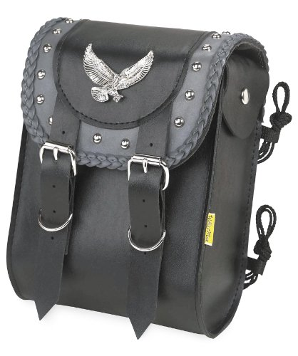 Willie & Max Gray Thunder Studded Sissy Bar Bag Black 8