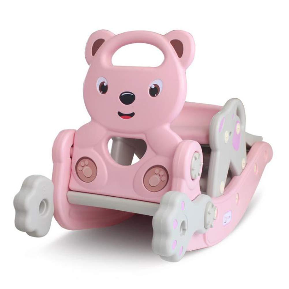 Y-yaoyi Schaukeltier Baby Schaukelpferd 2 in 1 Baby Rocker Und Kinderrutsche Indoor - Outdoor Kind Plastikspielzeug Kunststoff Schaukelpferd Für 1-6 Jahre