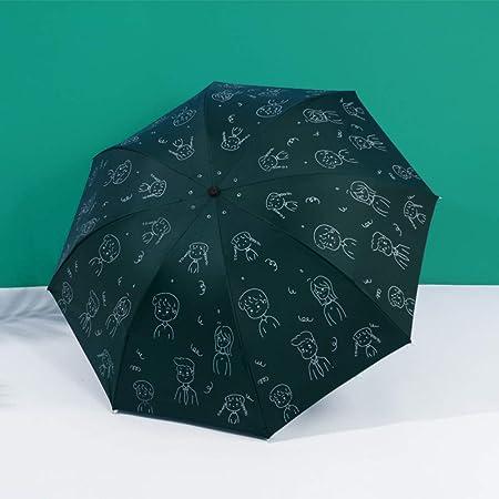 XIWANJIA Protección UV Sombrilla Y Paraguas Paraguas ...