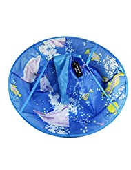 Waterproof Child Hair Cutting Cloak Kids Hair Apron Cape Blue Dolphin