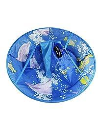 Waterproof Child Hair Cutting Cloak Kids Hair Apron Cape Blue Dolphin