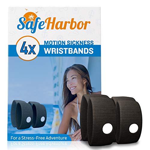 SafeHarbor Motion Sickness Wristbands   4 Travel
