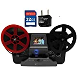 "Wolverine 8 mm & Super 8 Reels Movie Digitizer w/2.4"" LCD (Film2Digital MovieMaker) Includes 32GB SD Memory Card & Worldwide 100-240V AC Adapter & International Two-Prong Round Pin Plug Adapter"