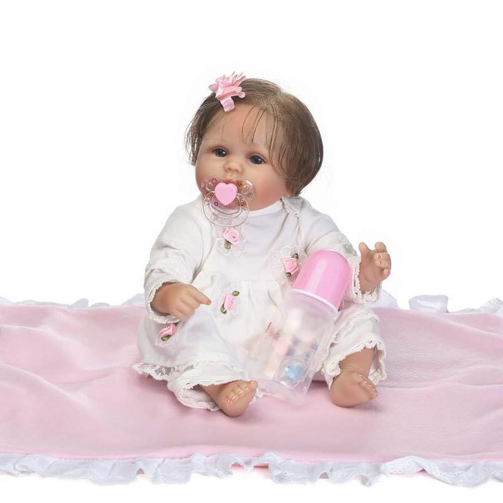 IIWOJ Bella Reborn Baby Doll, 15,75 Pollici Morbido Silicone Occhi acrilici Doll-Girl ' s Gifts Holiday Presents 75 Pollici Morbido Silicone Occhi acrilici Doll-Girl ' s Gifts Holiday Presents