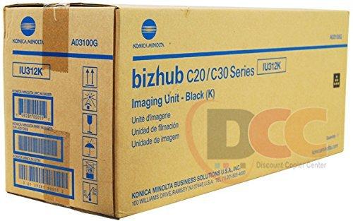 (Genuine Konica Minolta IU312K Black Imaging Unit for Bizhub C20 C30P C31P A03100G)