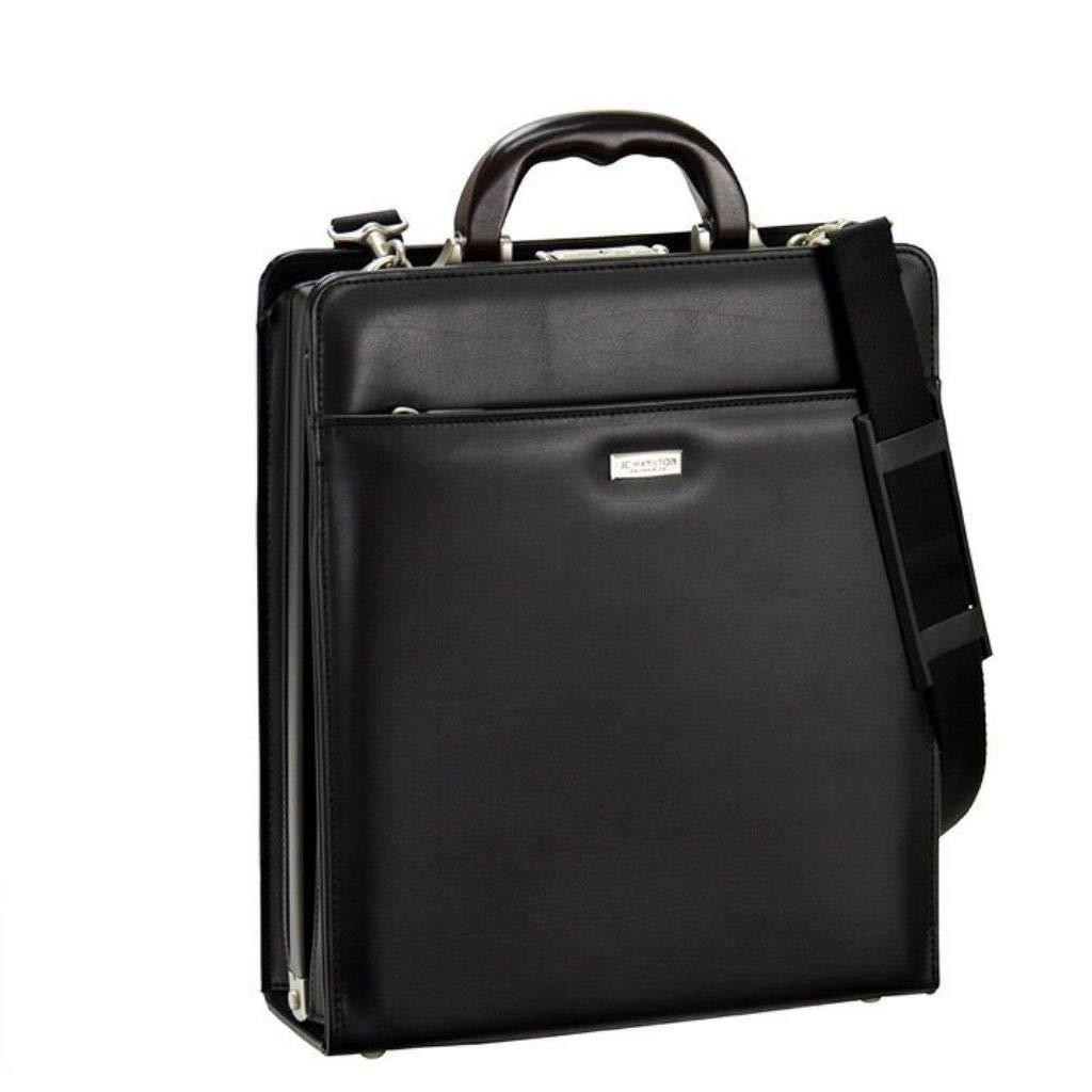 [和製 鞄] 縦長 ビジネスバッグ 高級 日本製 縦型 大開き 機能性 バッグ 天然木 ハンドル 鍵付き メンズ B07MZQWTP7