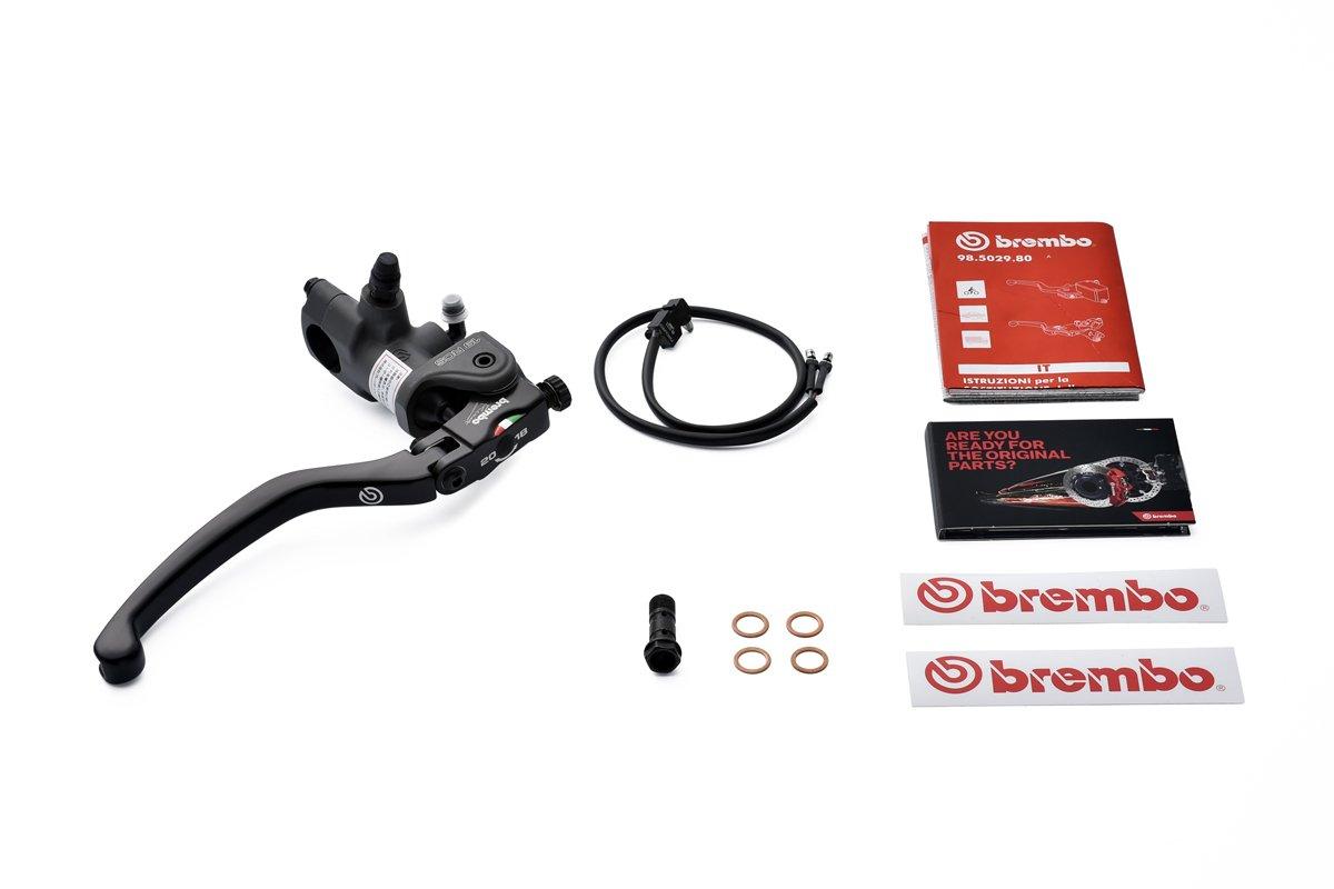 Brembo Racing Ma/ître cylindre r/églable de frein avant radial 15 x 18 x 20 rcs avec Microswitch /à levier long