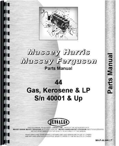 - Massey Harris 44 SN# 40001 + Tractor Parts Manual (MH-P-44,44K LT)
