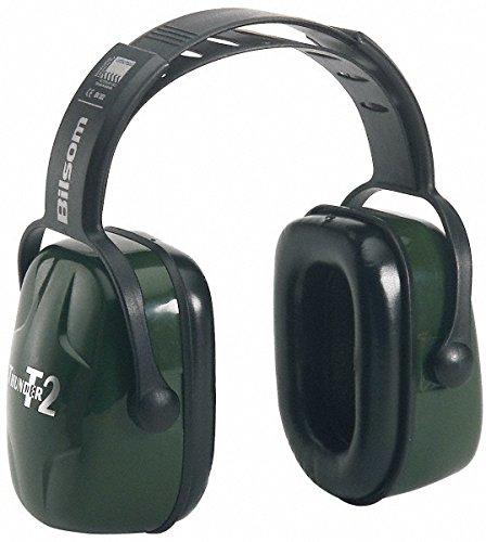 Honeywell HLI1010929 Howard Leight Thunder T2 Dark Green Plastic Headband Noise Blocking Earmuffs, English, 30.68 fl. oz. Volume, Plastic, 1' x 1' x 1' 1 x 1 x 1