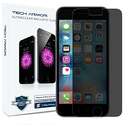 Tech Armor Privacy Ballistic Glass Screen Protector for Apple iPhone 6 Plus/iPhone 6s Plus (5.5-inch) [1-Pack]