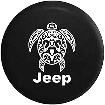 amazon jeep sea turtle diving beach marine life spare tire 2000 Jeep Wrangler jeep sea turtle diving beach marine life spare tire cover vinyl black 31 in