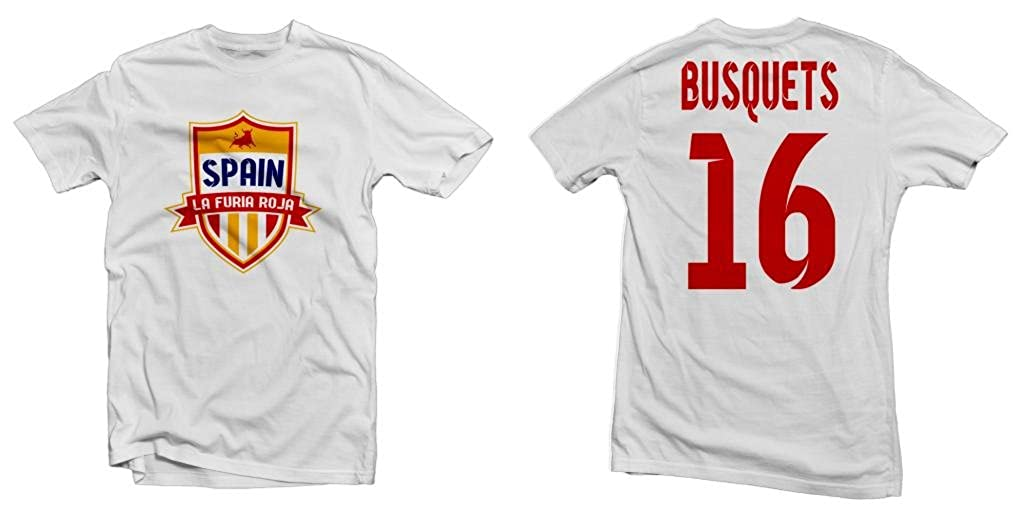 Amazon.com: Spain La Furia Roja Hero Tee: Sergio Busquets ...