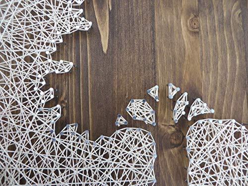 Oak tree string art patterns