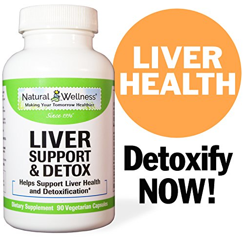 Premium Liver Support & Detox Cleanse Supplement - Made with NON-GMO Ingredients Combining Milk Thistle, NAC, Turmeric, Dandelion, Vitamins B6, B12, C, and more.