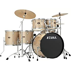 Tama Imperialstar 6-Piece Complete Drum Set with Meinl HCS Cymbals - FREE PROMO CYMBAL PACK - Champagne Mist 4