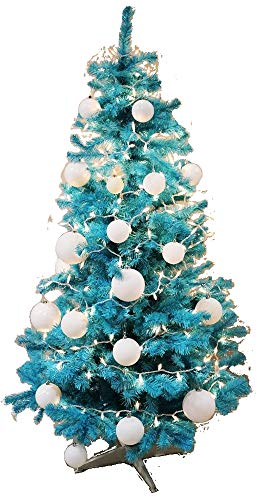 Homegear 6FT Artificial Turquoise Xmas/Christmas Tree