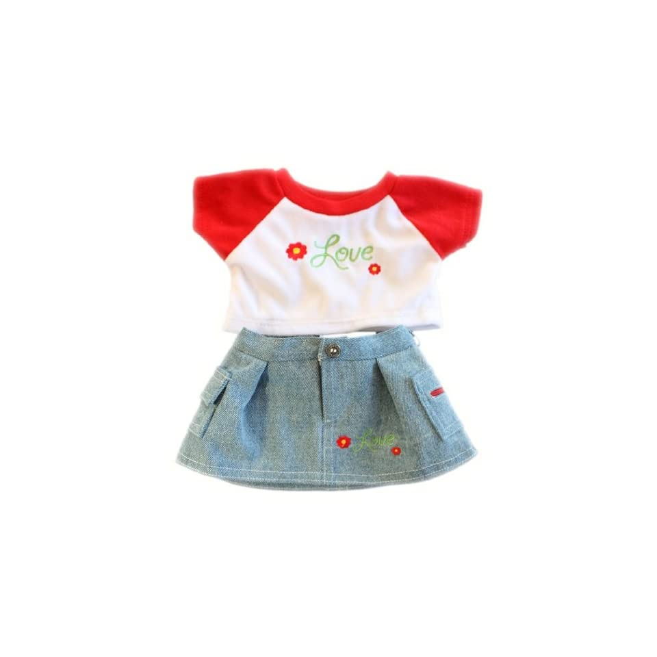 Red Flower Love Outfit Teddy Bear Clothes Outfit Fits Most 14   18 Build a bear, Vermont Teddy Bears, and Make Your Own Stuffed Animals