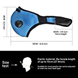 Unigear Dust Mask, Activated Carbon Dustproof Mask with Extra Cotton Filter and Valves for Exhaust Gas, Pollen Allergy, PM2.5, Running, Cycling, Outdoor Activities
