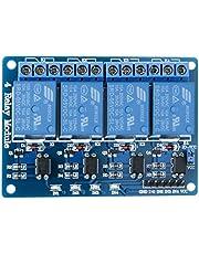 ELEGOO 4 Kanaals DC 5V Relaismodule met Optokoppeling voor Arduino UNO R3 1280 DSP ARM PIC AVR STM32 Raspberry Pi