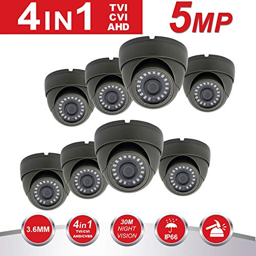5MP Dome Security Camera,Anpvees Hybrid HD 1080P 4 in 1