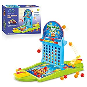 Board Game Ball Shooting Game, PinSpace 2018 Ball Shooting Travel Game for Kids Adults Party Family Game, Idea Gift for Kids 3 Years and Up Age 4 to 6