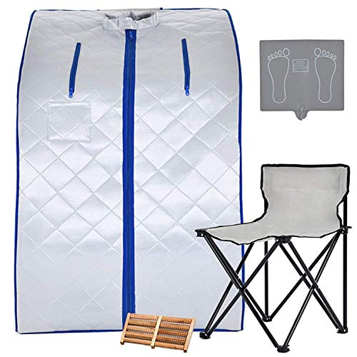 KUPPET Portable Infrared Home Spa, Infrared Portable Sauna, with Heating Foot Pad and Chair, Remote Control, 30 Minutes Timer (Infrared 36.6