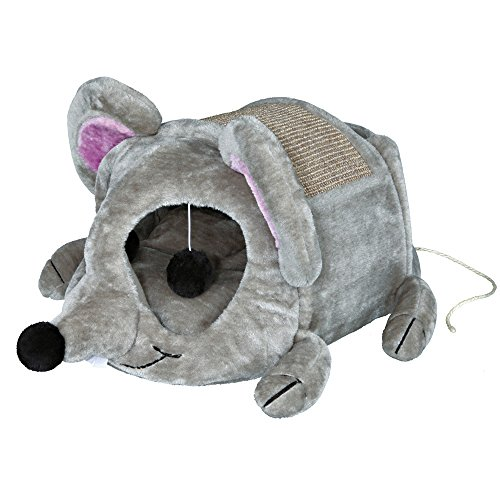 Cuddly Trixie Lukas Grey Wooden Cat Cave Cat Tree Condo Scratcher Pet Furniture -  Thailand