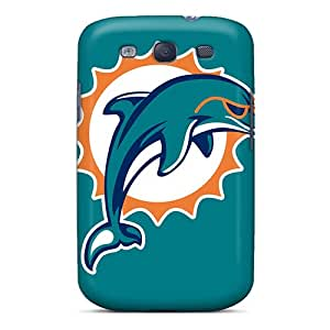 Shock Absorbent Cell-phone Hard Cover For Samsung Galaxy S3 (Qxr9295cIEl) Support Personal Customs High Resolution Miami Dolphins Image