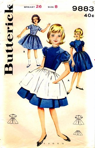 Uncut Vintage Butterick Pattern Dress - 7