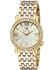 Juicy Couture Womens LA Luxe Quartz Gold-Tone and Stainless Steel Casual Watch, Multi Color (Model: 1901430)