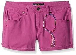 Lucky Brand Little Girls\' Riley Slub Twill Short, Purple Orchid, 5