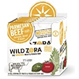 Wild Zora Parmesan 100% Grass Fed Beef & Organic Veggie Bars (10 pack) - Gluten-Free, No Antibiotics, No Added Hormones