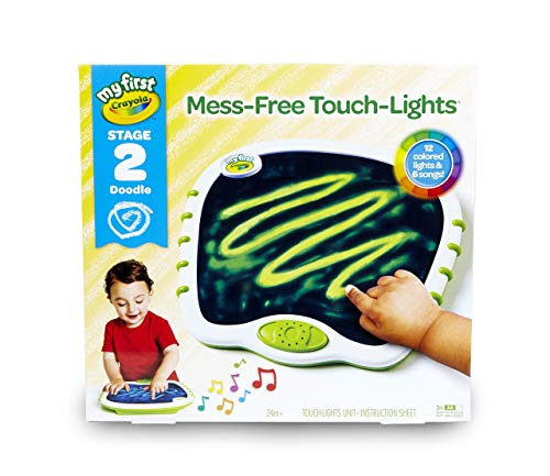 My First Crayola Touch Lights, Musical Doodle Board, Toddler Toy, Gift (Renewed)
