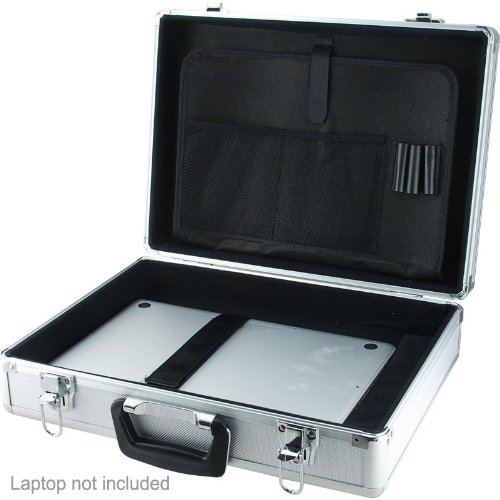 SRA Cases EN-AC-BY-13450C Aluminum Laptop and Test Equipment Silver Hard Case, 17.7 x 13.3 x 6.1 Inches