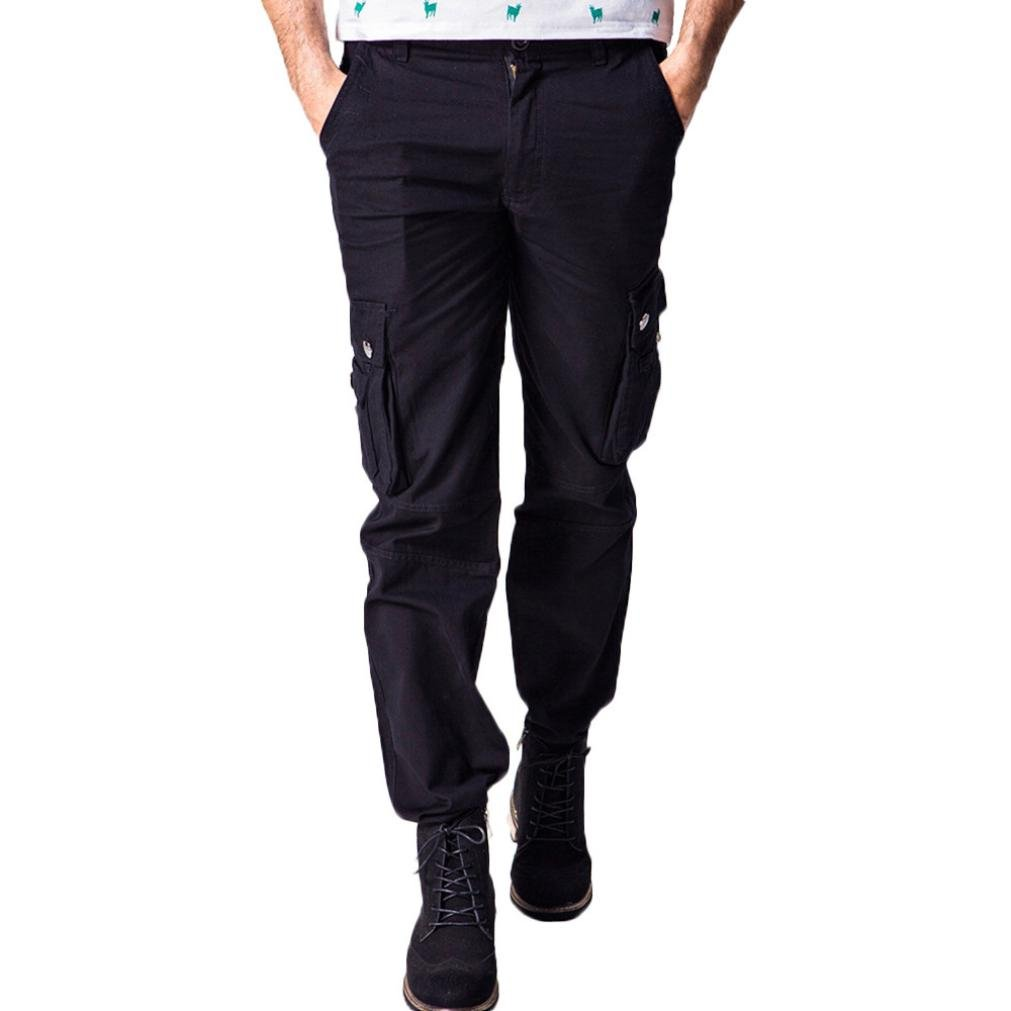 Allywit Men's Cotton Multi-Pockets Work Pants Tactical Outdoor Military Army Cargo Pants Big and Tall