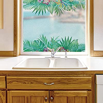 Grand Object of Art, Window Film for Privacy Story Plants Large Decorative Glass Sticker for Office Home Meeting Room Bathroom Self Adhesive Anti UV Removable Flims, Made to Last