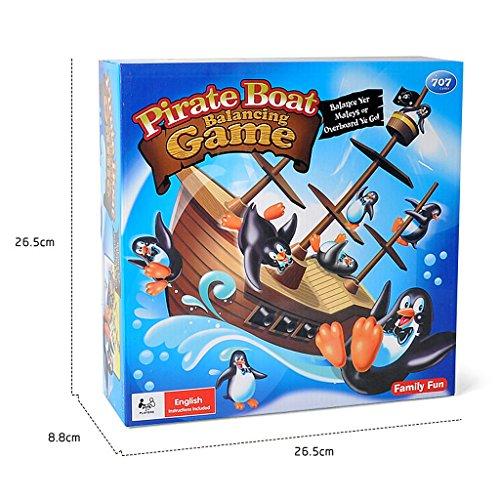 B Blesiya ペンギン 知育 おもちゃ 家族 楽しい  海賊 ボート玩具 ペンギン バランスゲーム ギフト