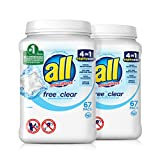 All Mighty Pacs Laundry Detergent, Free Clear for