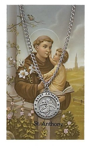 Sports Prayer Card - Round St. Anthony Medal with Prayer Card