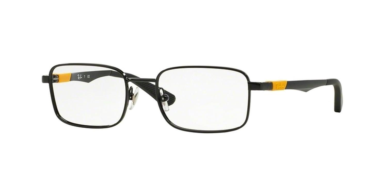 20e42b2b937 Amazon.com  Eyeglasses Ray Ban 1043 Black Yellow Square  Shoes