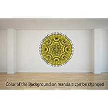 Mandala Art 1 Vinyl Decal Wall, Car, Laptop - Met. Gold - 50 inch