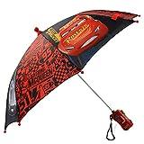 Disney Little Boys' Cars Lightning Mcqueen Rainwear Character Umbrella, Red/Black, Age 3-7