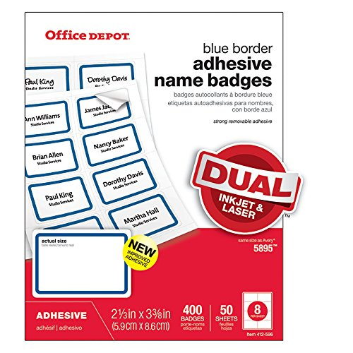 (Office Depot® Adhesive Name Badge Labels, 2 1/3