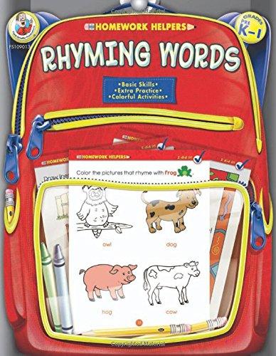 Rhyming Words Homework Helper, Grades PreK to 1