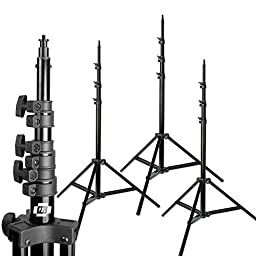 10ft Photo Studio Heavy Duty Light Stands Set of 3 Air cushioned Steve Kaeser