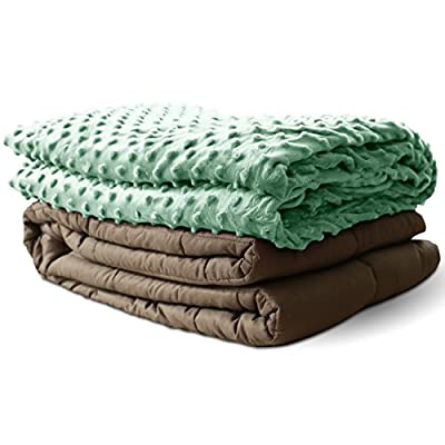 Weighted Blanket Adult & Child Size-For Heavy Stress Relief, Autism, Restless Leg Syndrome & natural calm for anxiety - - Blankets made from our best Relaxation Sleep Fabric