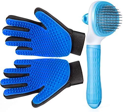 Pet Grooming Glove for Cat Dog, nomoypet Gentle...