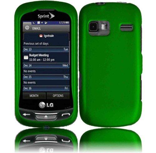 Dark Green Hard Case Cover for LG Rumor Reflex LN272 (Lg Rumor Reflex Cover compare prices)
