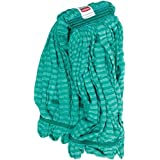 Rubbermaid Commercial Microfiber Tube Mop, 1-Inch Headband, Large, Green (FGT81306GR00)