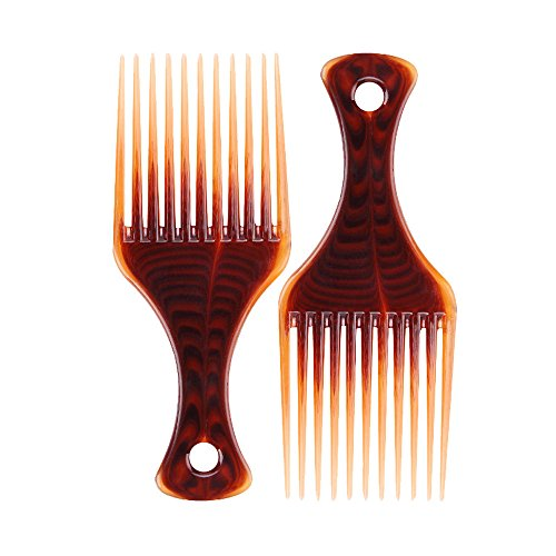Iulove Afro Comb Curly Hair Brush Salon Hairdressing Styling Long Tooth Styling Pick